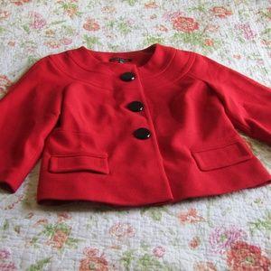 Laura Ashley Red Jackie-O Jacket